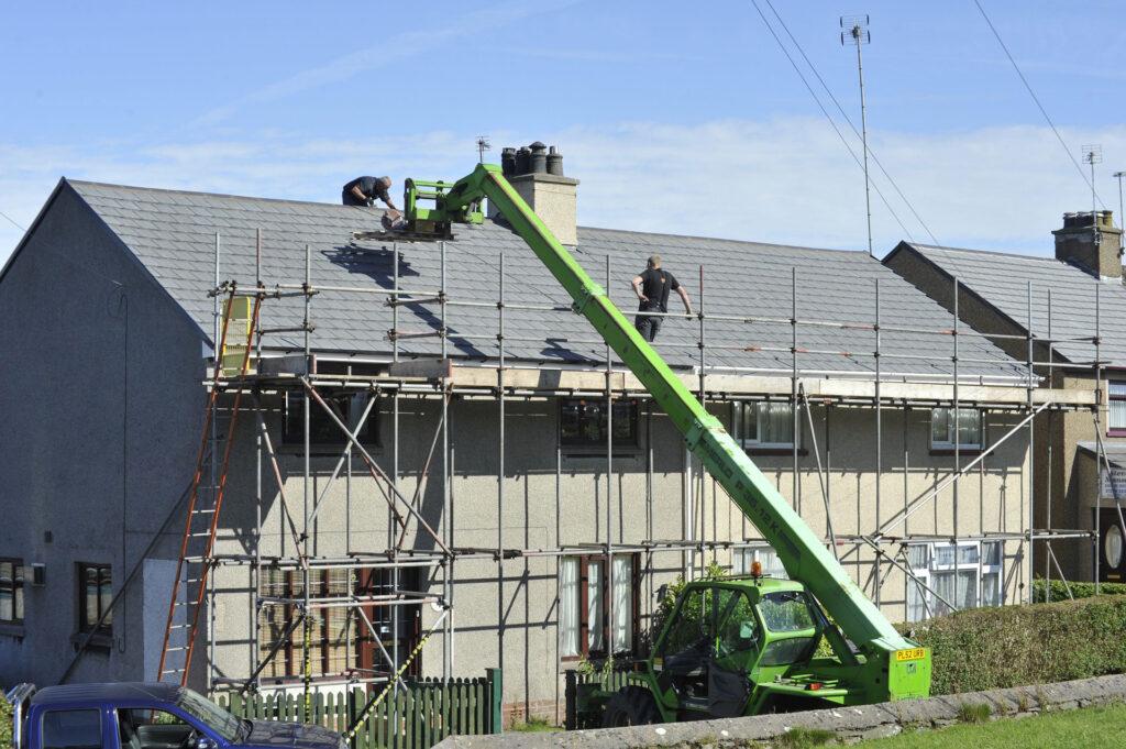 Roof Scaffold Installation